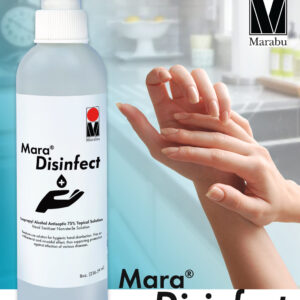 Mara Disinfect hand sanitizer in use